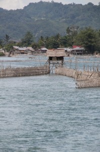 eel traps in the Poso River