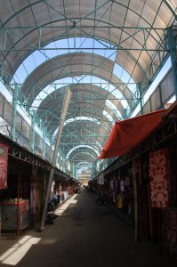the covered market in Gorontalo