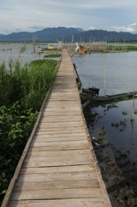 the jetty to one of the fishing huts