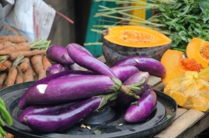 eggplant in the market