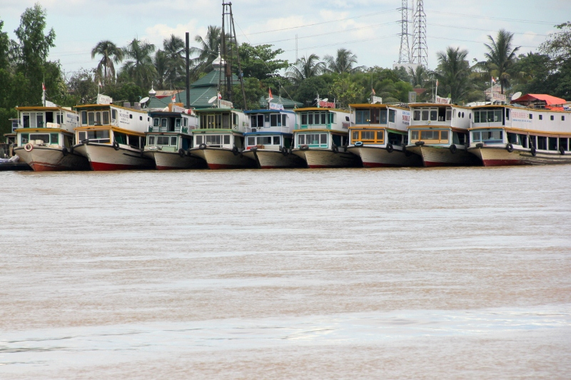 the place where the kapal baisas leave, the ferries that take you upriver
