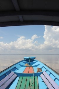the view from our canoe, of Danau Jempang