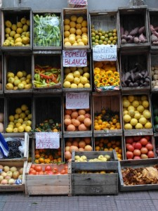 fruit and vegetable shop, to add some colour to the town