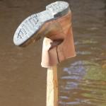 somebody's boot, drying in the sun of Muara Paho