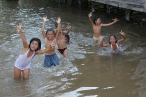 children have the time of their live, with the high water