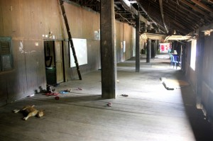inside the longhouse, the communal space