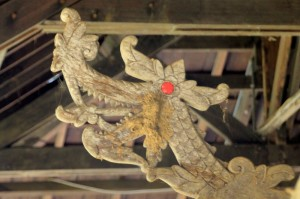 dragon-head front decoration of one of the coffins