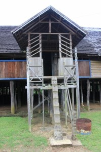 entry to the longhouse in Eheng