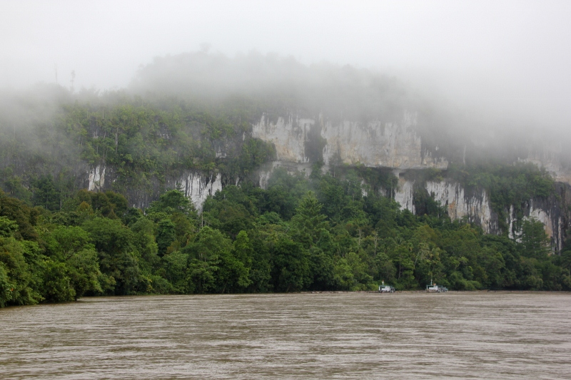 limestone cliff – the only rock visible for miles – just below Long Bagum