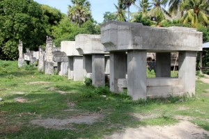 row of tombs