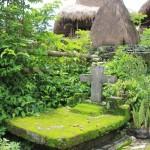 tomb with a cross in Kampung Waitabara