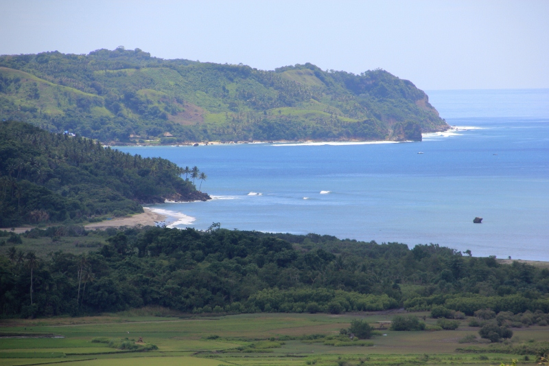 and of the more distant coastline