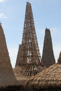 the tallest house under construction in Ratenggaro