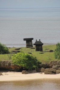 isolated tombs close to the beach in Ratenggaro