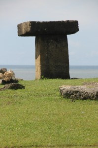 isolated tomb outside the village, near the beach