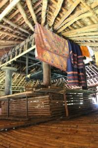 the large platform inside a house