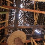 the inside of a tall roof, in Wainyapu