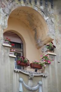part of the façade of a building