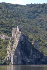 a castle at the Serbian side, at the beginning of one of the gorges
