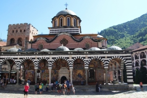 the church, centre piece of the Rila Monastery