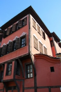 typical architecture in Plovdiv