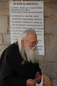 one of the monks in Bachkovo