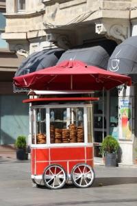 food stall in Taksim