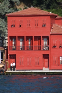 one of the mansions along the Bosphorus