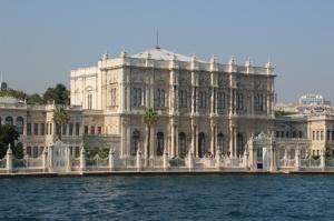 one of the many palaces along the Bosphorus
