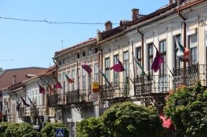 row of houses in the main street of Veliko Tarnovo
