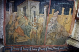 more frescos, quite bright for 14th C origin