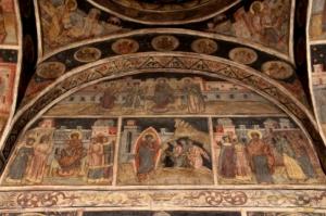 fresco inside the Stavropoleos Chucrh