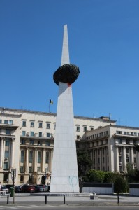 the Rebirth Memorial, monument for those fallen in the 1989 revolution
