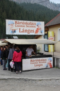 food stalls at the shores of Lagu Rosu