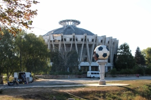 my favourite building in Chisinau, the football stadium
