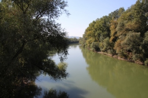 the Prut River, border between Moldova the country and Moldavia the Romanian province