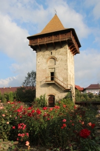 defense tower on the wall surrounding Humor Monastery
