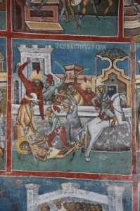 fresco showing that IS isn't that original, after all: Ottoman Turks killing a Christian