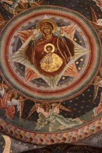 frescoes inside the church
