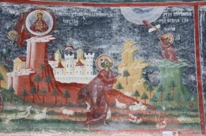 beautiful, colourful fresco