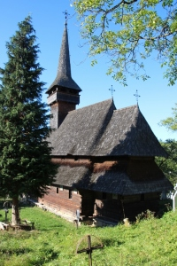 the wooden church in Poienile Izei