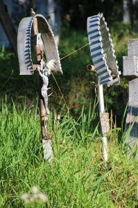 metal crosses in the Poienile Izei cemetery