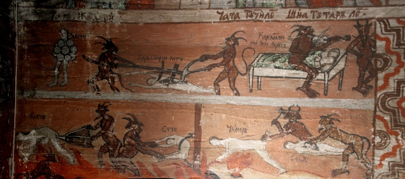 one of my favourites, part of the hell scene in the Poienile Izei church