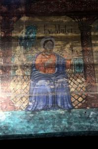 a few brighter coloured frescoes are also present
