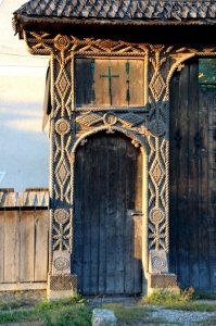 the smaller of two doors, in the gate