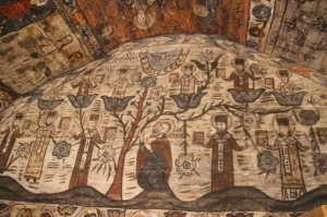 another fresco, high up in the Desesti church