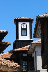 clock tower in Nesebit, on the Black Sea