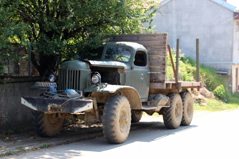 not everything is new, just yet: an old truck in Tryavna
