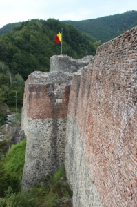 the remnants of Poienari Fortress