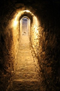 a bit of a Dracula Castle comes with a secret passage; this is in Bran Castle